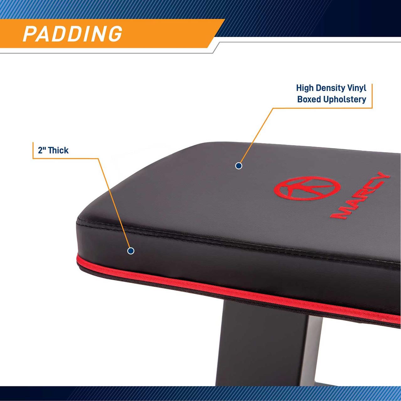 The Marcy SB-10510 Flat Bench has comfortable padding
