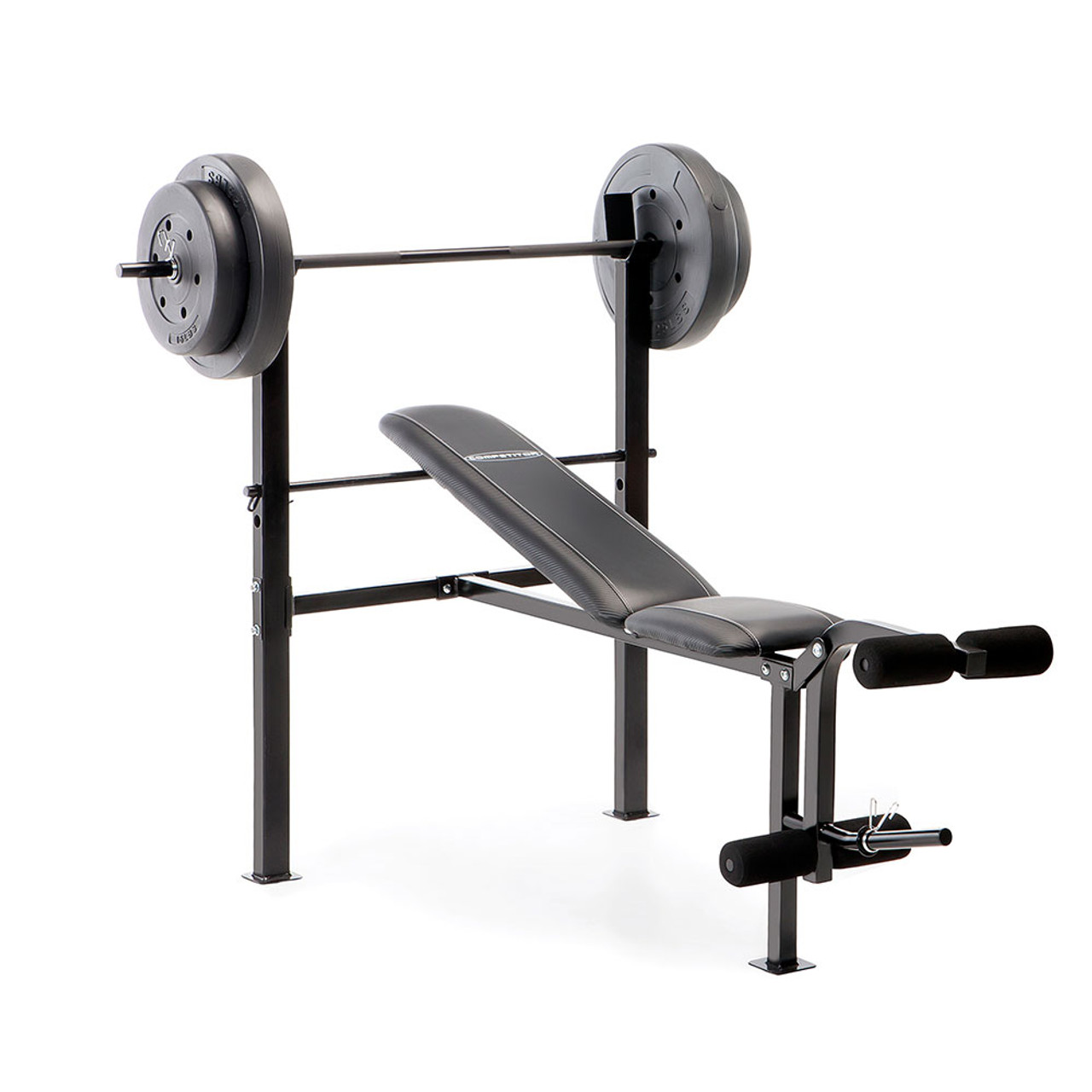 Sensational Standard Adjustable Bench With 80 Lb Weight Set Competitor Cb 20111 Alphanode Cool Chair Designs And Ideas Alphanodeonline