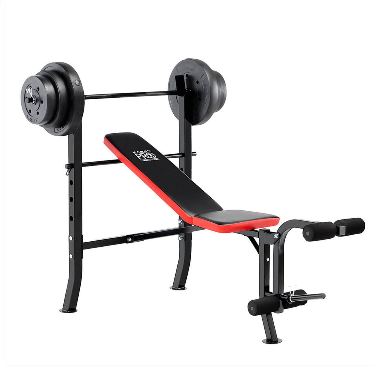 Marcy Pro Standard Weight Bench with 100 lb Weight Set ...