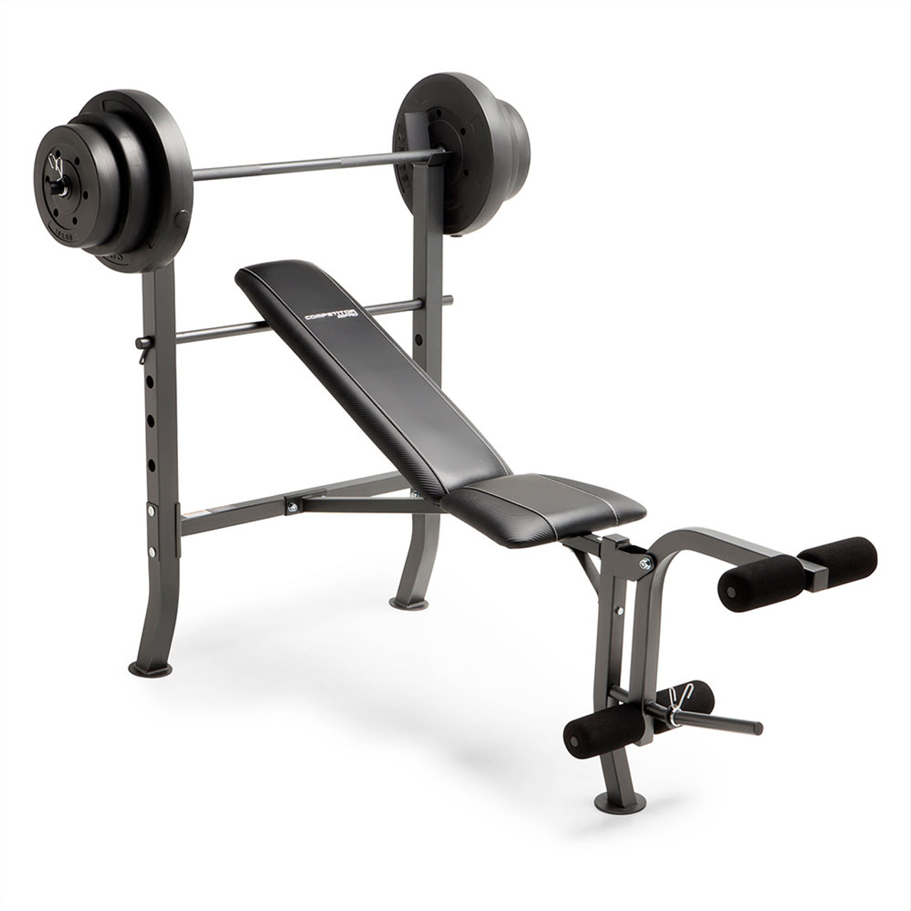 57573706850 Competitor Pro Standard Bench + 100lb Weight Plate Set
