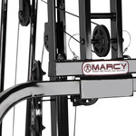 The Marcy 100 lb. Stack Home Gym MKM-81030 has a strong cable pulley system