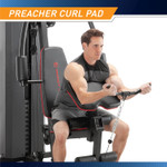 Marcy Club 200lb Home Gym  MKM-81010 - Infographic - Dimensions - Preacher Curl Pad