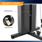 Marcy Club 200lb Home Gym  MKM-81010 - Infographic - Weight Stack and Lock
