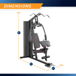 Marcy Club 200lb Home Gym  MKM-81010 - Infographic - Dimensions