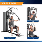 Marcy Club 200lb Home Gym  MKM-81010 - Infographic - Press Arm Exercises - Presses - Rows - Butterflies