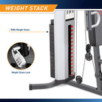 Marcy Home Gym System 150lb Weight Stack Machine  MWM-988 - Infographic - Weight Stack and Lock