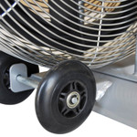 The Marcy AIR-1 Deluxe Fan Bike has wheels to make transporting and moving the bike easy
