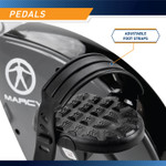 The Foldable Upright Bike NS-652 has adjustable pedal straps to ensure feet do not slip during an intense workout