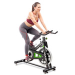 Marcy Revolution Cycle XJ 3220 model getting intense workout on bike