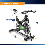 The Marcy Revolution Cycle XJ-3220 - Dimensions