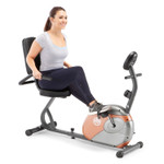 The Recumbent Bike ME-709 by Marcy in use by model