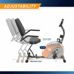 The Recumbent Bike ME-709 has thick padding for those extended intense workouts - Infographic