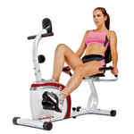 The Marcy Recumbent Bike NS-908R is a convenient low-impact method of getting an intense cardio workout