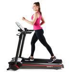 The Marcy Easy Folding Motorized Treadmill JX-651BW in use