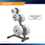 Marcy Olympic Weight Plate Tree PT-45 - Infographic -500lb Weight Capacity