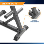 Marcy Olympic Weight Plate Tree PT-45 - Infographic -Heavy Duty Construction