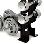 Compact Dumbbell Rack DBR-56 by Marcy prevents clutter and keeps weights off the floor.