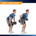 40 lbs Vinyl Dumbbell Weight Set by Marcy is perfect for performing bent-over row exercises that target the back muscles
