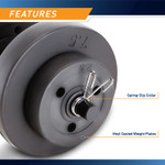 40 lbs Vinyl Dumbbell Weight Set by Marcy features spring-clip collars and vinyl coated weight plates