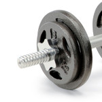 The Iron 40 Lb. Adjustable Dumbbell Set includes spin lock collars to secure standard plates