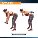 3-Pair Neoprene Dumbbell Set by Marcy in use - Bent Over Lateral Raise