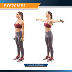 3-Pair Neoprene Dumbbell Set by Marcy in use - Lateral Arm Raises