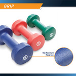 3-Pair Neoprene Dumbbell Set by Marcy - Slip Resistant Neoprene Coating