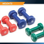 3-Pair Neoprene Dumbbell Set by Marcy - 2lb  - 3lb - 5lb pairs of Dumbbells