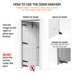The Bionic Body door anchor - How to Use Door Anchor - Do not use on Bottom of Door