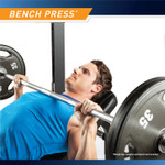 The Marcy Half Cage Rack SM-8117 allows for bench press exercises that work the upper and lower pectoralis muscles