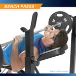 Marcy Olympic Multipurpose Weightlifting Workout Bench - MWB-4491 comes with an adjustable bench that works great for bench press exercises