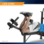 Marcy Olympic Multipurpose Weightlifting Workout Bench - MWB-4491 - leg developer works the glutes and hamstring muscles