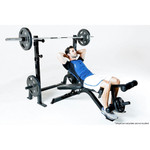 The Marcy Olympic Weight Bench PM-70210 in use - inclined sit ups