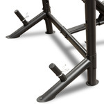 The Marcy Diamond Mid Size Bench MD-867W comes with storage posts for your weight plates