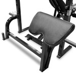 The Marcy Pro 2PC Olympic Bench | PM-842 has storage post to place your preacher curl pad when not in use