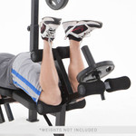 The MarcyClub Olympic Weight Bench | MKB-733 in use - leg curls