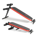 The Marcy SB-4606 Folding Utility Bench w/ Headrest – Slant Board folds for convenient storage