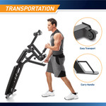 Marcy Deluxe Utility Weight Bench SB-350 - Infographic - Transport Handle and Wheels