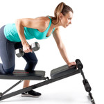 The MKB-211 Utility Weight Bench in use - one are rows