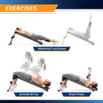 Utility Slant Board  Marcy JD-1.2 - Exercises - Leg Raises Sit Ups Declined Barbell Press