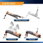 Utility Slant Board  Marcy JD-1.2 - Exercises - Leg Raises Sit Ups Declined Barbell Press