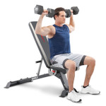 Adjustable Utility Bench  Marcy SB-670 - Dumbbell Military Press