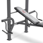 The Marcy Diamond Elite Standard Weight Bench MD-389 includes butterfly weight bars to deliver a full body workout