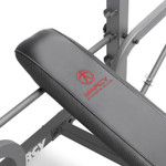 The Marcy Diamond Elite Standard Weight Bench MD-389 is adjustable - workout inclined and flat