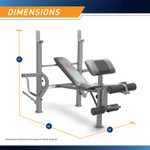 "The Marcy Diamond Elite Standard Weight Bench MD-389 Dimensions - 66""L x 53""W x 47""H"
