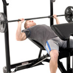 The Marcy Club Deluxe Mid Size Bench MKB-869 in use - bench press