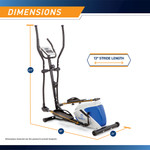 marcy magnetic elliptical trainer ME-1017E with model - Dimensions