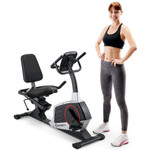 Model with Regenerating Magnetic Recumbent Bike | Marcy ME-706