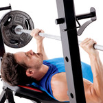 The Marcy Deluxe Olympic Weight Bench MKB-957 used to do incline bench presses