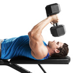Multi-Utility Weight Bench SB-10115 by Marcy being used for building triceps